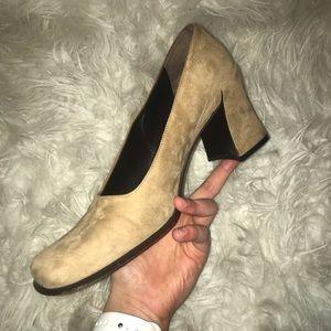 Suede Prada heels size 8.5